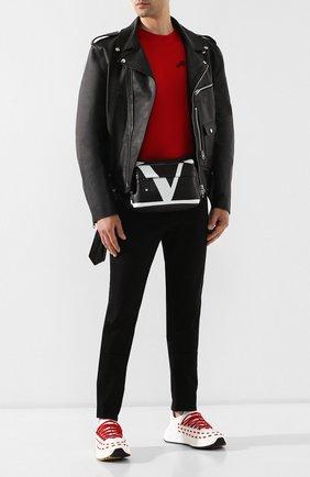 Мужские кожаные кроссовки BOTTEGA VENETA белого цвета, арт. 578305/VIFH0 | Фото 2