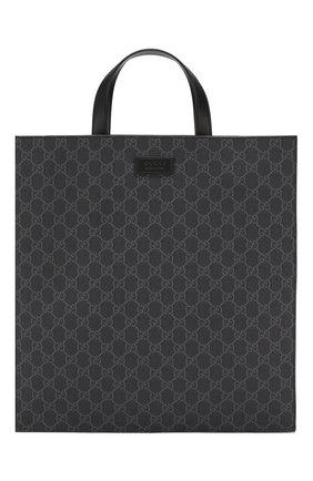 Мужская сумка gg supreme  GUCCI черного цвета, арт. 495559/K5IAN | Фото 1