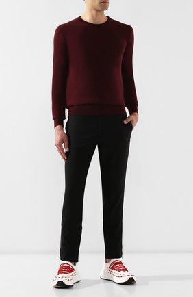 Мужской брюки ALEXANDER MCQUEEN черного цвета, арт. 567346/QNR30 | Фото 2