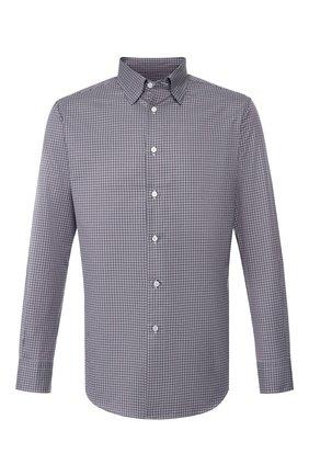 Мужская хлопковая рубашка BRIONI сиреневого цвета, арт. SCCA0L/08013 | Фото 1
