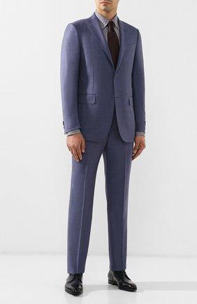 Мужская хлопковая рубашка BRIONI сиреневого цвета, арт. SCCA0L/08013 | Фото 2