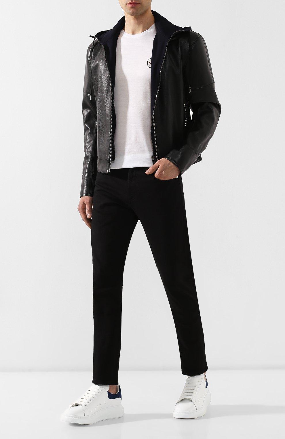 Джинсы Alexander McQueen черные | Фото №2