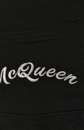 Джинсы Alexander McQueen черные | Фото №5