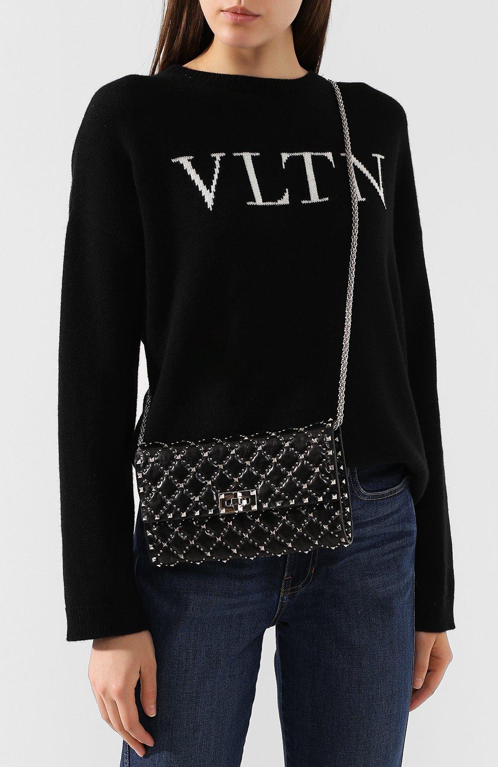 Женский клатч valentino garavani rockstud medium VALENTINO черного цвета, арт. SW2B0137/GXJ | Фото 5