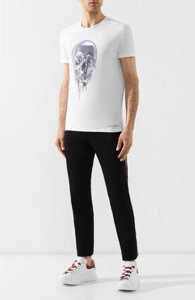 Мужская хлопковая футболка ALEXANDER MCQUEEN белого цвета, арт. 575488/QNZ84 | Фото 2