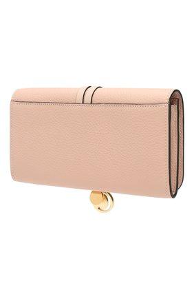 Женские кожаный кошелек alphabet CHLOÉ розового цвета, арт. CHC17AP942H9Q | Фото 2