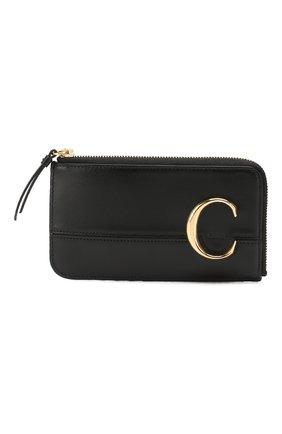 Кожаный футляр для кредитных карт Chloé C   Фото №1
