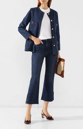Женская кожаные туфли GUCCI бордового цвета, арт. 572232/C9D00 | Фото 2