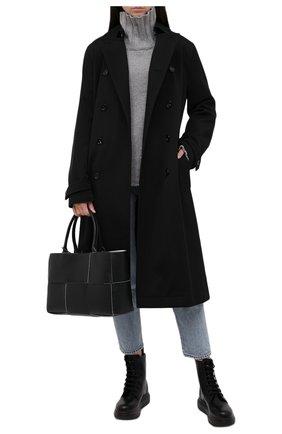 Женские кожаные ботинки ALEXANDER MCQUEEN черного цвета, арт. 586394/WHX51 | Фото 2 (Статус проверки: Проверено, Проверена категория; Подошва: Платформа; Женское Кросс-КТ: Военные ботинки; Материал внутренний: Натуральная кожа)