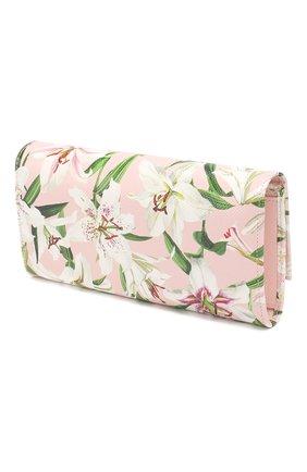 Женские кожаный кошелек DOLCE & GABBANA светло-розового цвета, арт. BI0087/AA201 | Фото 2