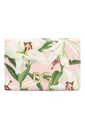 Женский кожаный футляр для кредитных карт DOLCE & GABBANA светло-розового цвета, арт. BI0926/AA201 | Фото 1
