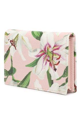 Женский кожаный футляр для кредитных карт DOLCE & GABBANA светло-розового цвета, арт. BI0926/AA201 | Фото 2