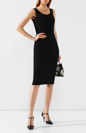 Женская кожаные туфли bellucci DOLCE & GABBANA черного цвета, арт. CD1366/A1471 | Фото 2