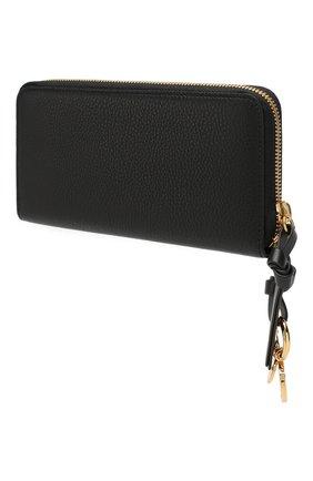 Женские кожаный кошелек alphabet CHLOÉ черного цвета, арт. CHC17AP941H9Q | Фото 2