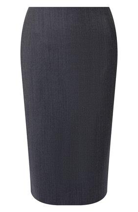 Женская шерстяная юбка BOSS голубого цвета, арт. 50411324 | Фото 1