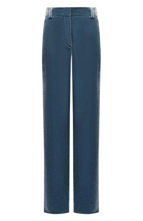 Женские бархатные брюки GIORGIO ARMANI зеленого цвета, арт. 9SHPP047/T0024 | Фото 1