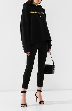 Женские джинсы DSQUARED2 черного цвета, арт. S75LB0207/S44531 | Фото 2