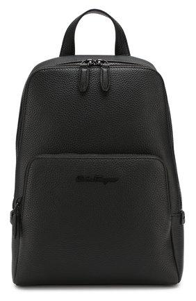 Мужской кожаный рюкзак SALVATORE FERRAGAMO черного цвета, арт. Z-0714784   Фото 1