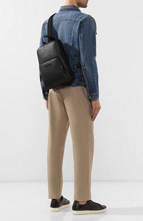 Мужской кожаный рюкзак SALVATORE FERRAGAMO черного цвета, арт. Z-0714784   Фото 2