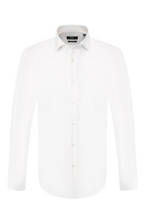 Мужская хлопковая сорочка BOSS белого цвета, арт. 50413755 | Фото 1