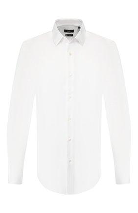 Мужская хлопковая сорочка BOSS белого цвета, арт. 50410072 | Фото 1