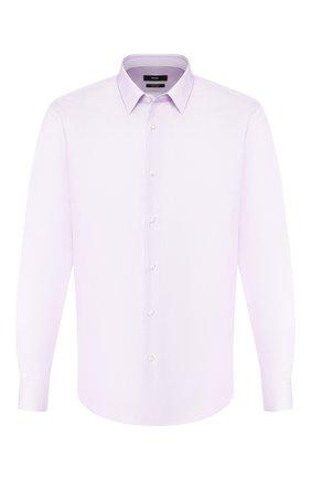 Мужская хлопковая сорочка BOSS сиреневого цвета, арт. 50410128 | Фото 1