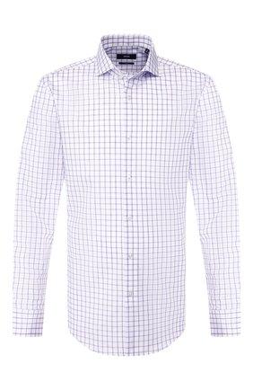 Мужская хлопковая сорочка BOSS сиреневого цвета, арт. 50410510 | Фото 1