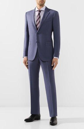 Мужская хлопковая сорочка BOSS сиреневого цвета, арт. 50410510 | Фото 2