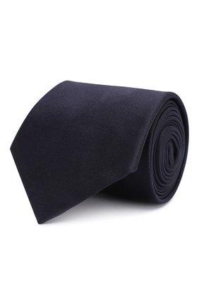 Мужской шелковый галстук GIORGIO ARMANI темно-синего цвета, арт. 360054/8P998 | Фото 1