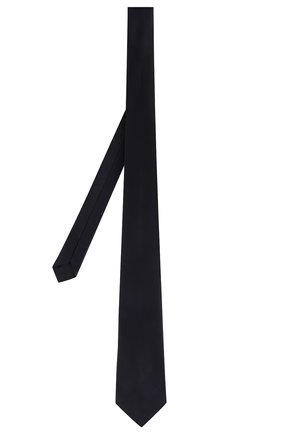 Мужской шелковый галстук GIORGIO ARMANI темно-синего цвета, арт. 360054/8P998 | Фото 2