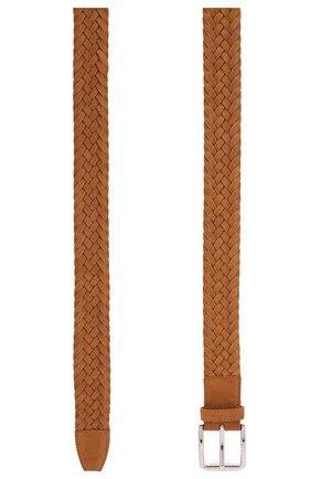 Мужской замшевый ремень TOD'S светло-коричневого цвета, арт. XCMCPR23100HMK | Фото 2