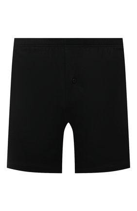 Мужские хлопковые боксеры ZILLI черного цвета, арт. 612BXM6 | Фото 1