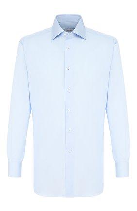Мужская хлопковая сорочка BRIONI голубого цвета, арт. RCLU3P/PZ024 | Фото 1