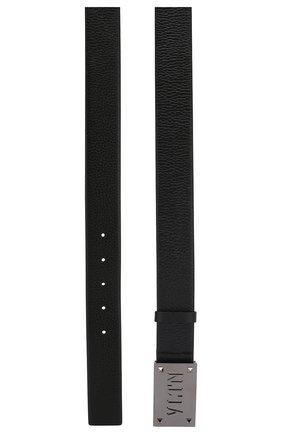 Мужской кожаный ремень valentino garavani VALENTINO черного цвета, арт. RY2T0Q02/VC5 | Фото 2