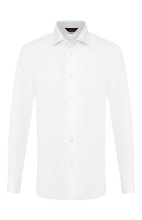 Мужская хлопковая сорочка ZEGNA COUTURE белого цвета, арт. 502029/9NS0RI | Фото 1