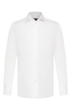 Мужская хлопковая сорочка ERMENEGILDO ZEGNA белого цвета, арт. 504080/9MS0BA | Фото 1