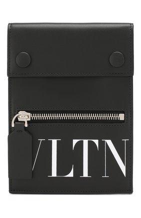 Кожаный футляр для визиток Valentino Garavani VLTN   Фото №1