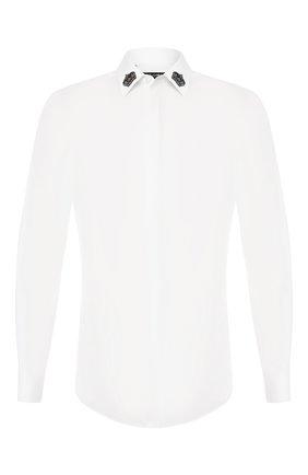 Мужская хлопковая сорочка DOLCE & GABBANA белого цвета, арт. G5GB3Z/FU5K9   Фото 1