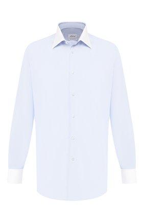 Мужская хлопковая сорочка BRIONI голубого цвета, арт. RCLU2H/07072 | Фото 1