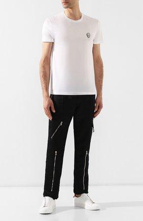 Мужская хлопковая футболка ALEXANDER MCQUEEN белого цвета, арт. 576671/QNX01 | Фото 2