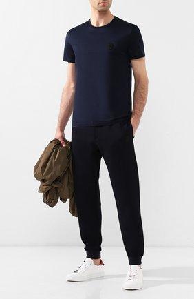 Мужская хлопковая футболка ALEXANDER MCQUEEN темно-синего цвета, арт. 576671/QNX01 | Фото 2