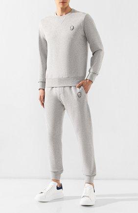 Мужской хлопковый свитшот ALEXANDER MCQUEEN светло-серого цвета, арт. 575467/QNX43 | Фото 2