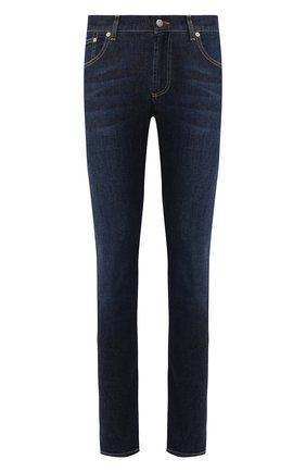 Мужские джинсы ALEXANDER MCQUEEN синего цвета, арт. 567861/QNY21 | Фото 1