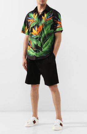 Мужские хлопковые шорты DOLCE & GABBANA черного цвета, арт. GYXAHZ/FUFIS | Фото 2