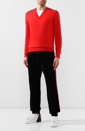 Мужской хлопковый пуловер DOLCE & GABBANA красного цвета, арт. GX563T/JACDE | Фото 2