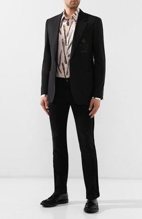 Мужской кожаные дерби marsala DOLCE & GABBANA черного цвета, арт. A10490/AA603 | Фото 2