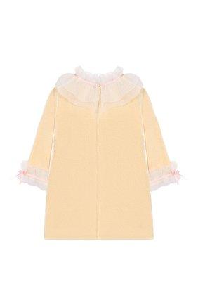 Детское шелковое платье BIBIONA желтого цвета, арт. ABS21FW18. | Фото 2