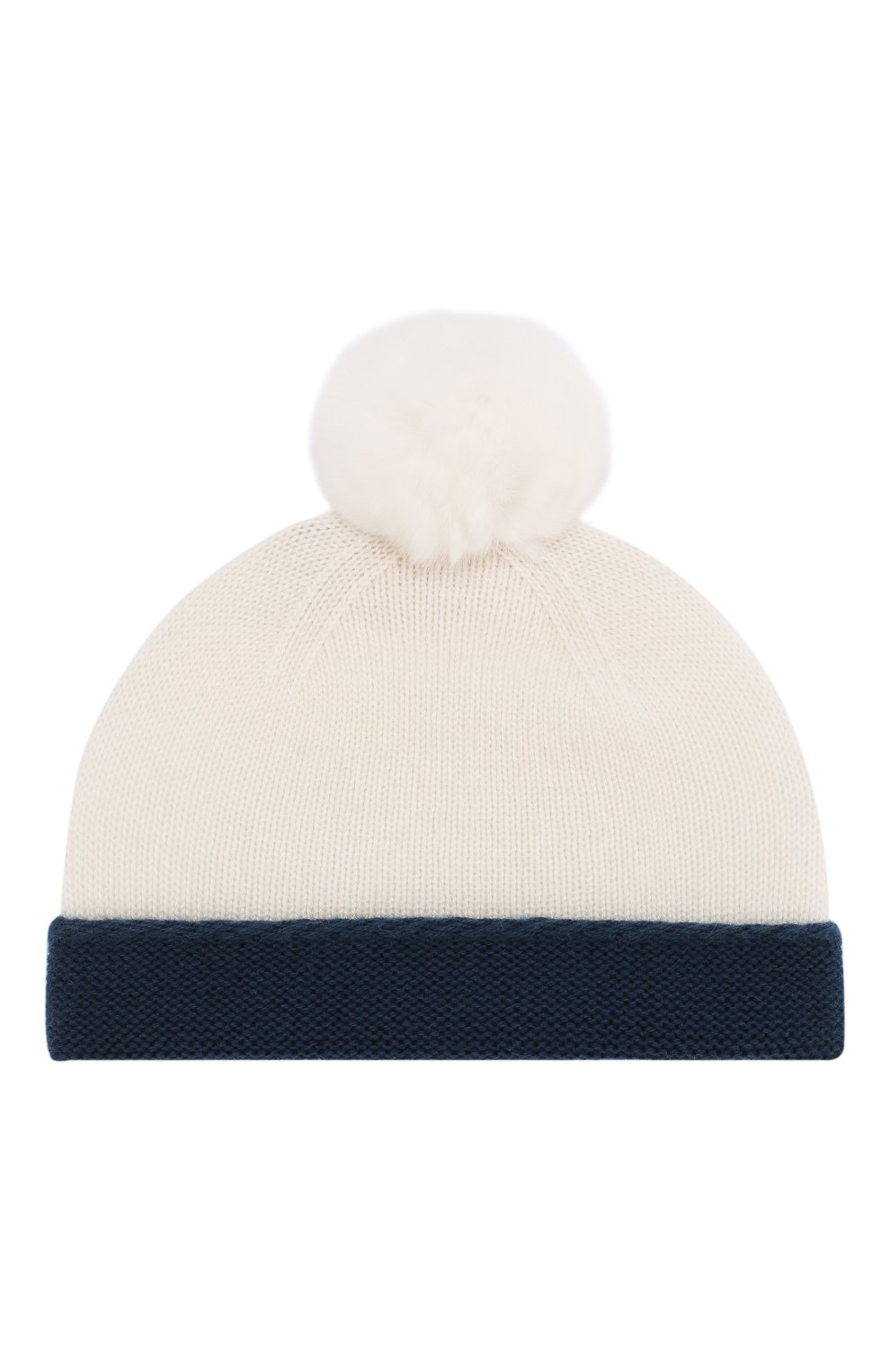 Детского кашемировая шапка LORO PIANA синего цвета, арт. FAE7156   Фото 1