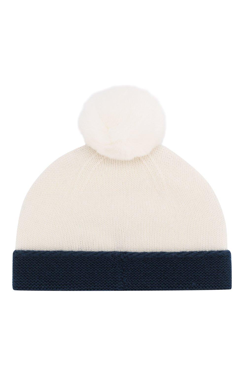 Детского кашемировая шапка LORO PIANA синего цвета, арт. FAE7156   Фото 2