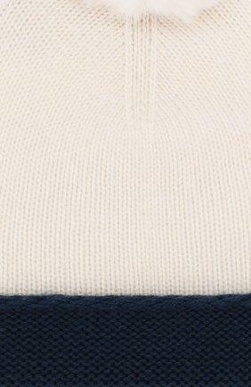 Детского кашемировая шапка LORO PIANA синего цвета, арт. FAE7156   Фото 3